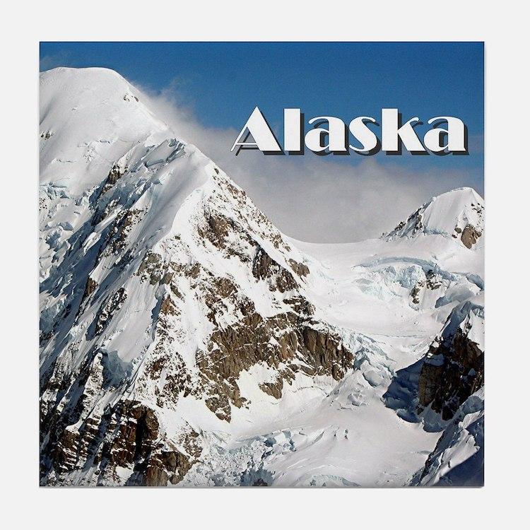 Alaska Range mountains, Alaska, USA ( Tile Coaster
