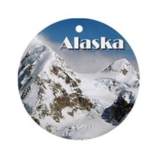 Alaska Range mountains, Alaska, U Ornament (Round)
