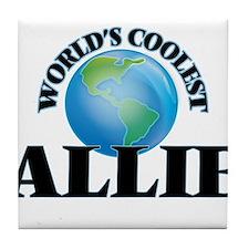 World's Coolest Allie Tile Coaster