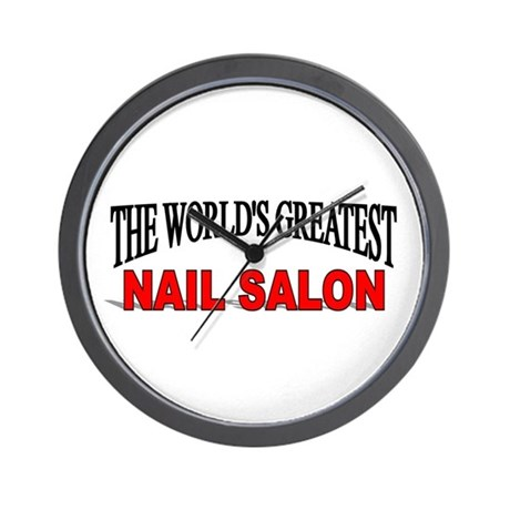 the world 39 s greatest nail salon wall clock by. Black Bedroom Furniture Sets. Home Design Ideas