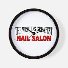 """The World's Greatest Nail Salon"" Wall Clock"