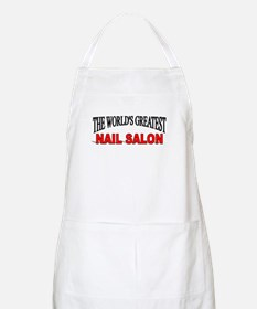 """The World's Greatest Nail Salon"" BBQ Apron"