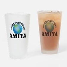 World's Coolest Amiya Drinking Glass