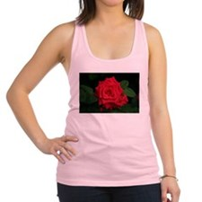 Rose, red flower in bloom Racerback Tank Top