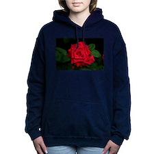 Rose, red flower in bloo Women's Hooded Sweatshirt