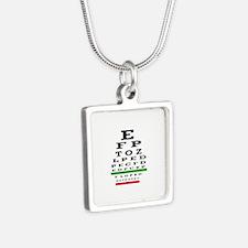 Eye Chart Opthalmology Necklaces