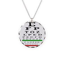 Eye Chart Opthalmology Necklace