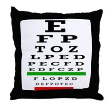 Eye Chart Opthalmology Throw Pillow