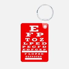 Eye Chart Opthalmology Keychains