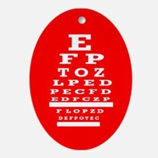 Eye Chart Opthalmology Ornament (Oval)