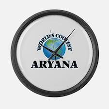 World's Coolest Aryana Large Wall Clock