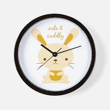 Cute & Cuddly Wall Clock
