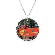 Santa Fe Railway Train Caboo Necklace