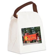 Santa Fe Railway Train Caboose, W Canvas Lunch Bag