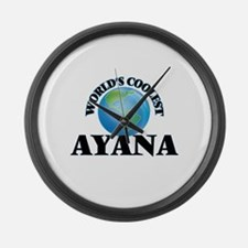 World's Coolest Ayana Large Wall Clock