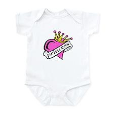 Princess Heart Crown Pink Baby/Toddler Bodysuits