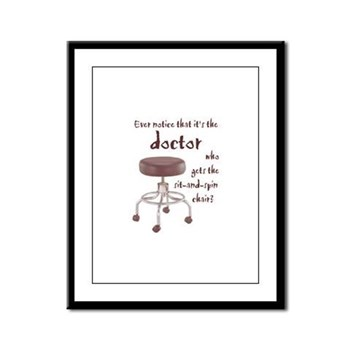 Docs Who Sit and Spin -- Framed Panel Print