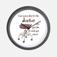 Docs Who Sit and Spin --  Wall Clock
