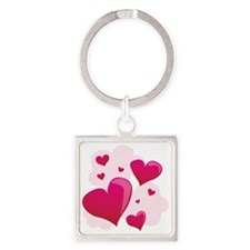 Hearts In Clouds Keychains