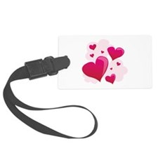 Hearts In Clouds Luggage Tag