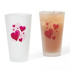 Hearts In Clouds Drinking Glass