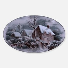 Christmas Winter Scene Decal