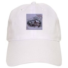 Christmas Winter Scene Baseball Cap