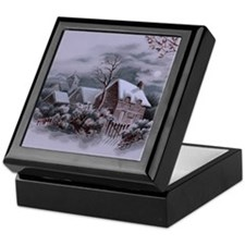 Christmas Winter Scene Keepsake Box