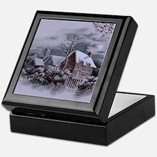 Christmas Winter Scene Keepsake Box