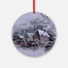 Christmas Winter Scene Ornament (Round)