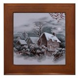 Winter scene Framed Tiles