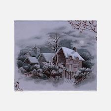 Christmas Winter Scene Throw Blanket