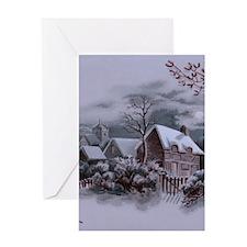 Christmas Winter Scene Greeting Cards
