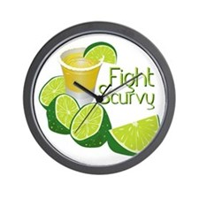 Fight Scurvy Wall Clock