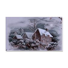 Christmas Winter Scene Car Magnet 20 x 12