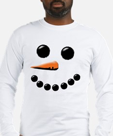 Cool Holiday snowman Long Sleeve T-Shirt