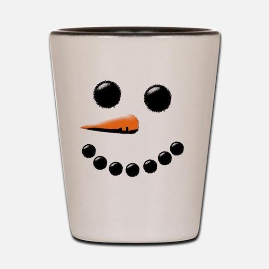 Funny Snowman Shot Glass