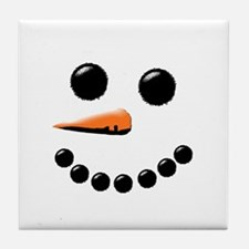 Cute Snowmen Tile Coaster
