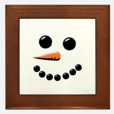 Cute Snowman Framed Tile