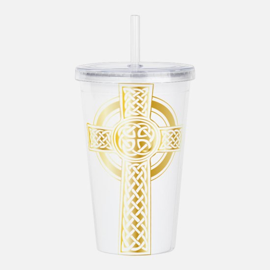 Celtic Cross Acrylic Double-wall Tumbler