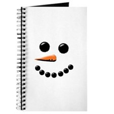 Happy Snowman Face Journal
