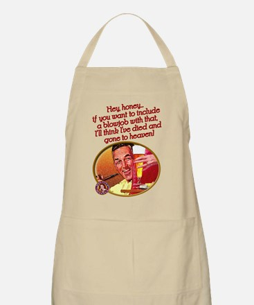 Beer-and-a-BJ BBQ Apron