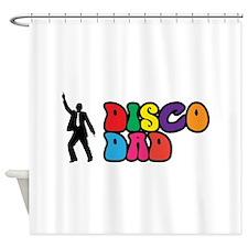 Disco Dad Shower Curtain