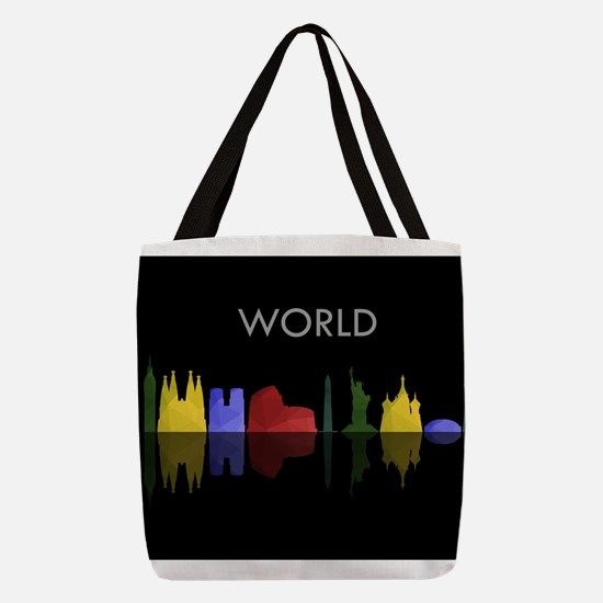 skyline world Polyester Tote Bag