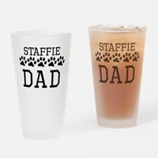 Staffie Dad Drinking Glass