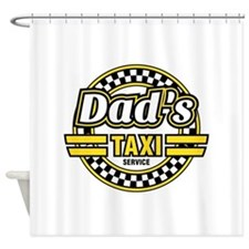Dad's Taxi Service Shower Curtain