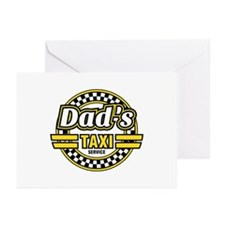 Dad's Taxi Service Greeting Cards (Pk of 10)