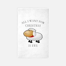 All I Want For Christmas Is Ewe Area Rug