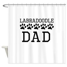 Labradoodle Dad Shower Curtain