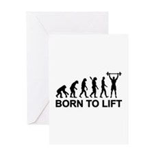 Evolution born to lift weightlifting Greeting Card